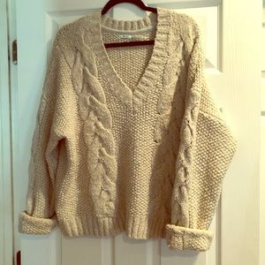 Chunky Cable Knit Grandpa sweater